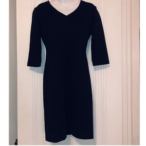 28b404c136bbc3 St. John Black Long Sleeve Dress